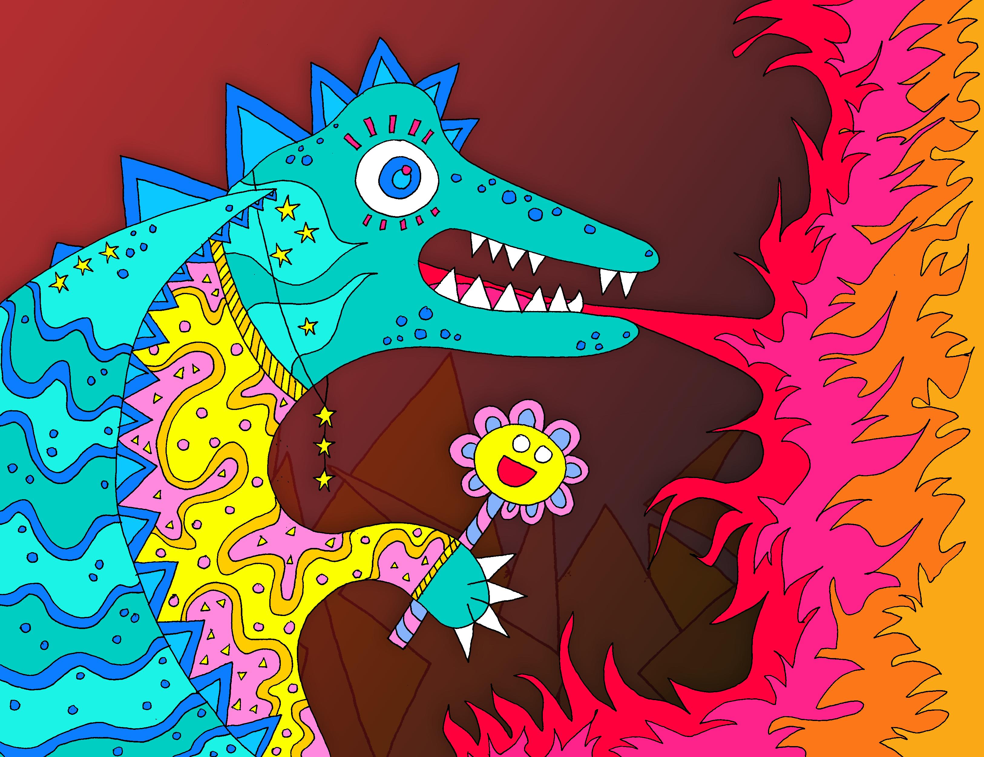 Fire Breathing Dragon Mama